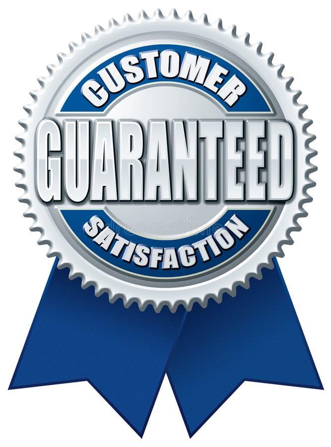 μπλε εγγυημένο πελάτης ασήμι ικανοποίησης απεικόνιση αποθεμάτων