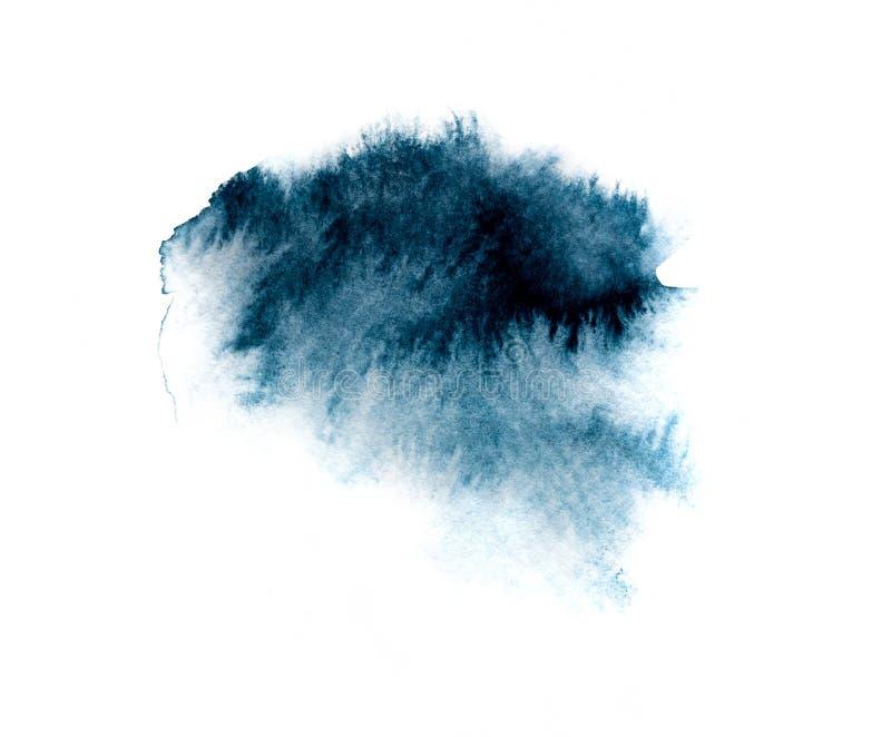 Μπλε εικόνα σημείων μελανιού watercolor διανυσματική απεικόνιση