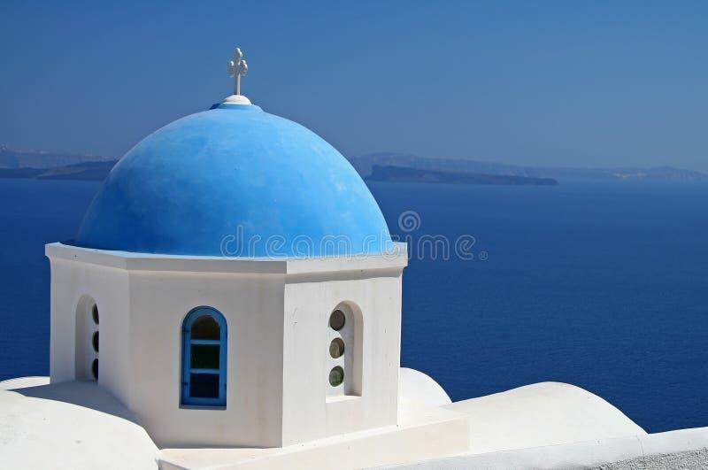 μπλε εκκλησία στοκ φωτογραφία