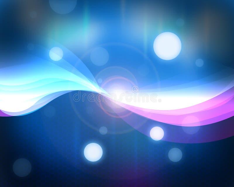 μπλε ελαφριές γραμμές διανυσματική απεικόνιση