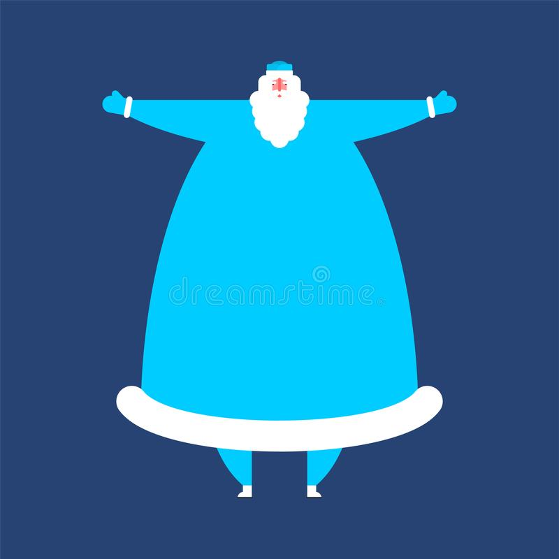 Μπλε ενδύματα Moroz Ded Παγετός εθνικό παραδοσιακό λαϊκό Ρ πατέρων ελεύθερη απεικόνιση δικαιώματος