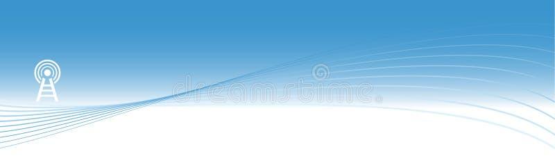 μπλε ενεργειακός πύργο&sigm διανυσματική απεικόνιση