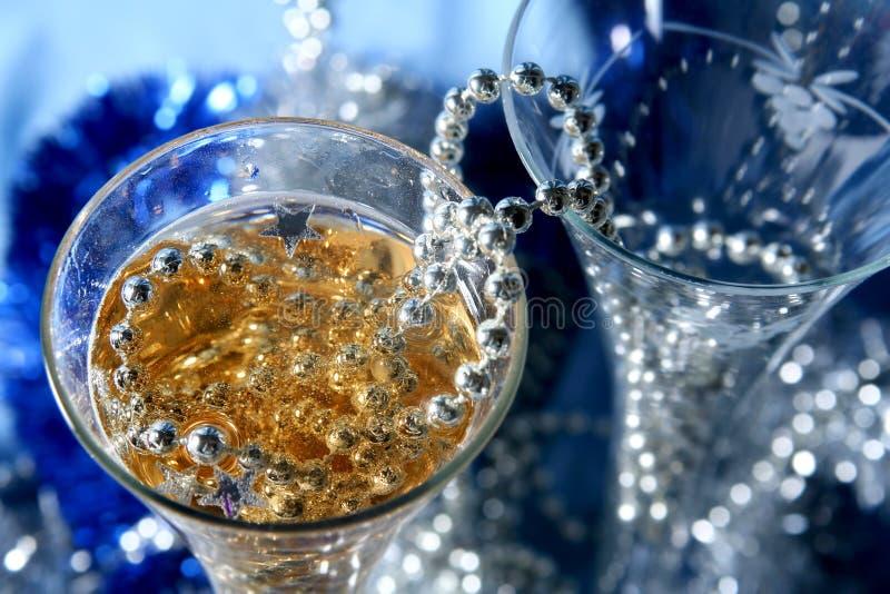 μπλε εορτασμός στοκ εικόνα