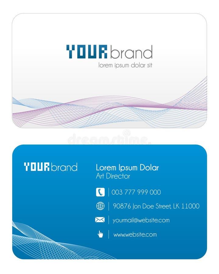μπλε επαγγελματική κάρτ&alp απεικόνιση αποθεμάτων
