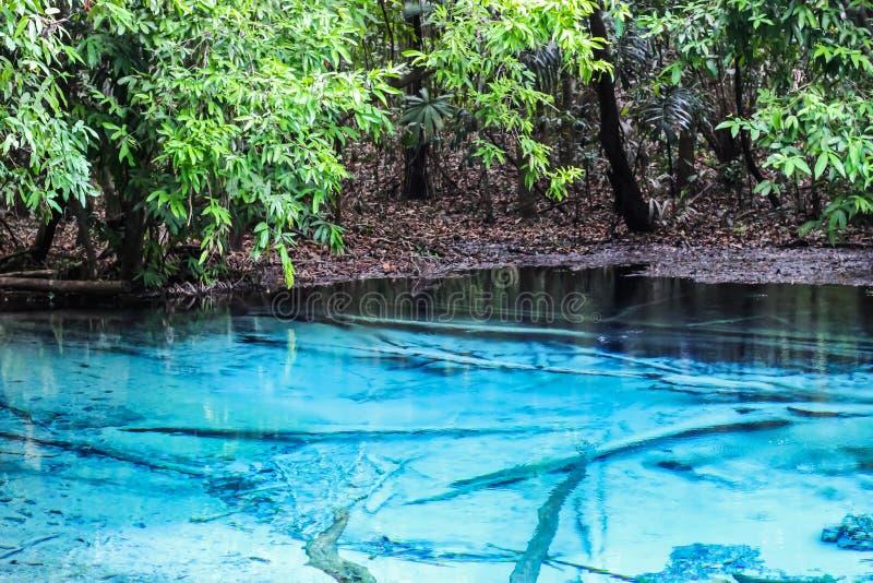 Μπλε επαρχία ένα Krabi λιμνών η κατάπληξη στο νότο του προορισμού της Ταϊλάνδης στοκ φωτογραφία με δικαίωμα ελεύθερης χρήσης