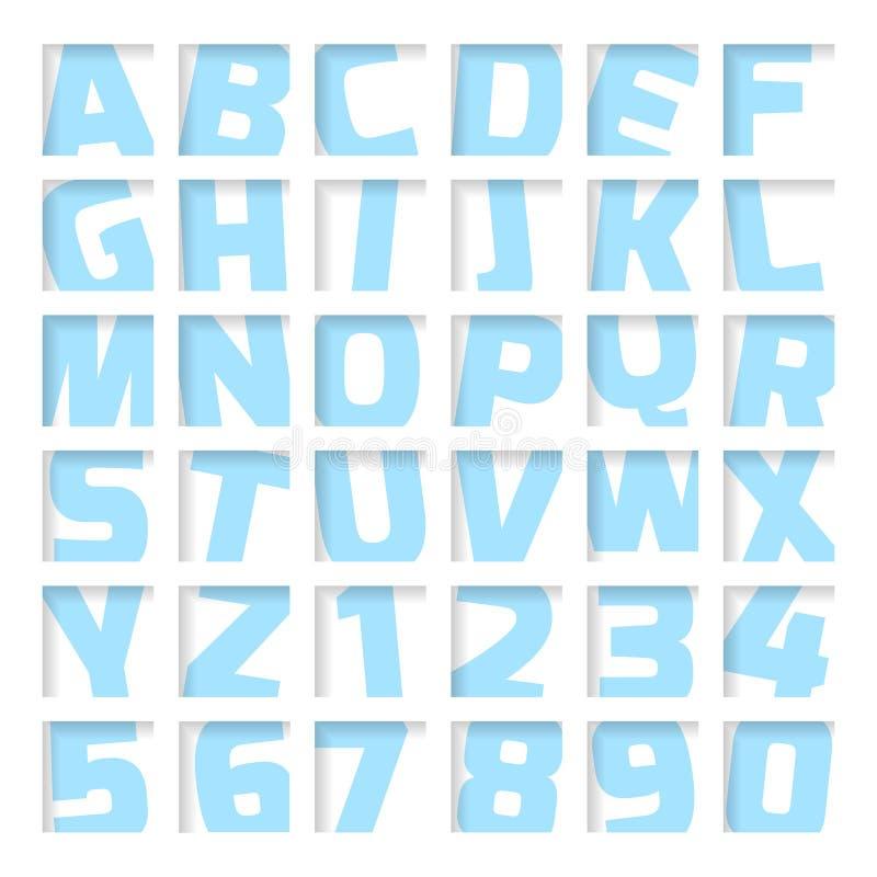 Μπλε επιστολές και αριθμοί ελεύθερη απεικόνιση δικαιώματος