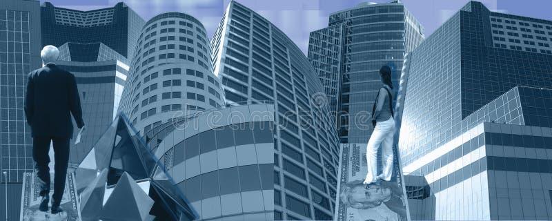μπλε επιχείρηση εμβλημάτ&omeg στοκ εικόνα
