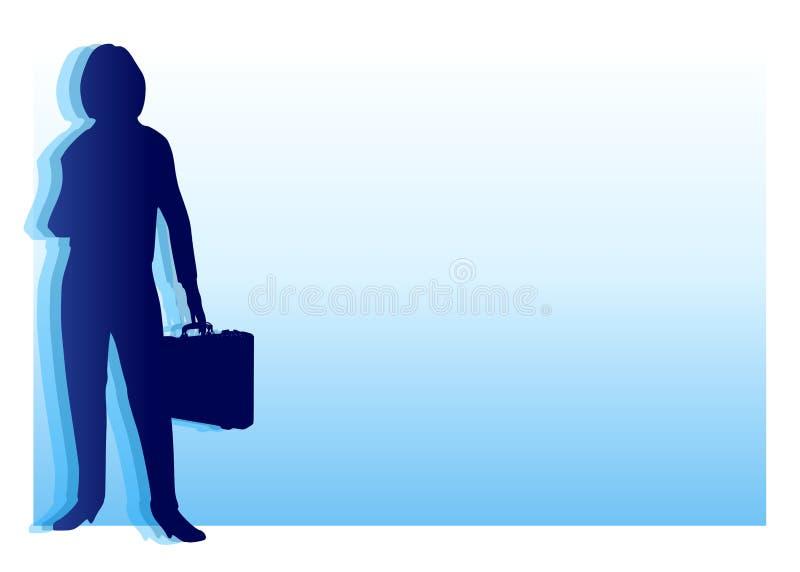 μπλε επιχειρηματίας ανα&sig ελεύθερη απεικόνιση δικαιώματος