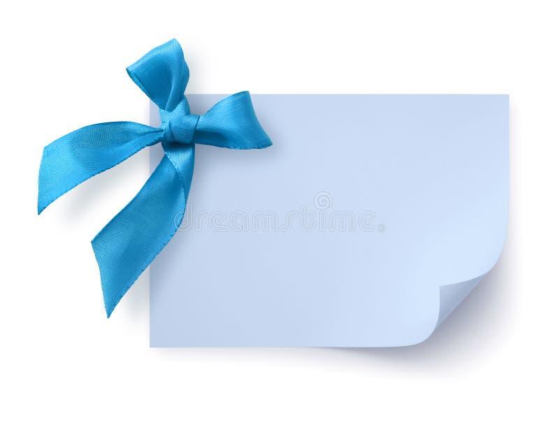 μπλε ετικέττα δώρων τόξων στοκ φωτογραφίες με δικαίωμα ελεύθερης χρήσης