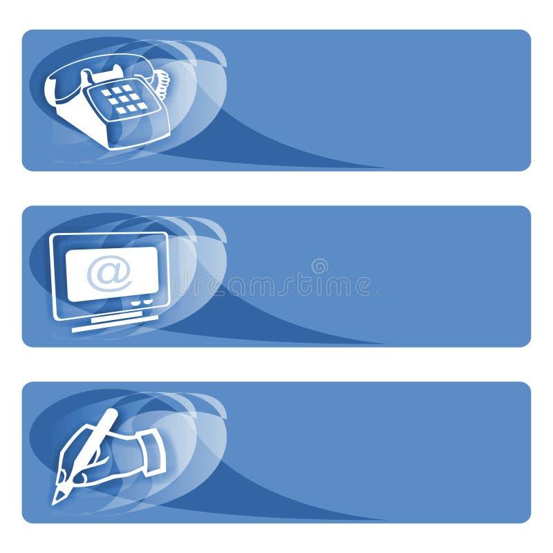μπλε ετικέττες στοιχεί&omega στοκ φωτογραφία