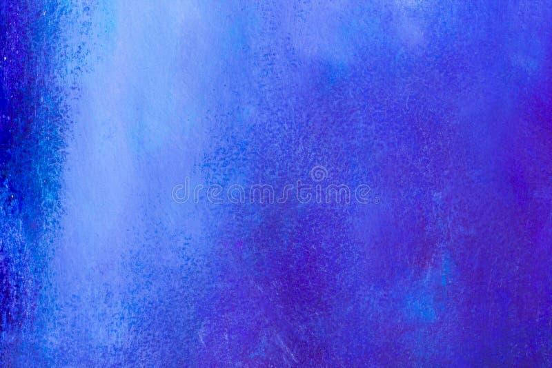 Μπλε ζωηρόχρωμα κτύπημα και splatter υπόβαθρο βουρτσών ζωγραφικής πετρελαίου ακρυλικά αφηρημένα καλλιτεχνικά απεικόνιση αποθεμάτων