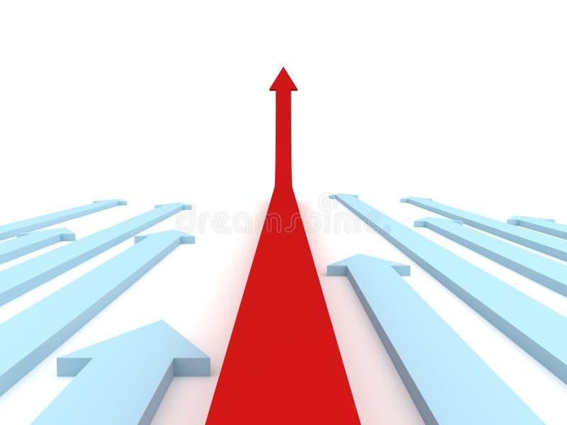 μπλε ηγέτης ένα βελών κόκκι&n διανυσματική απεικόνιση