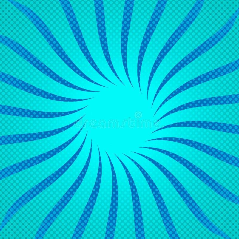 Μπλε ημίτονο υπόβαθρο ηλιαχτίδων επίσης corel σύρετε το διάνυσμα απεικόνισης ελεύθερη απεικόνιση δικαιώματος