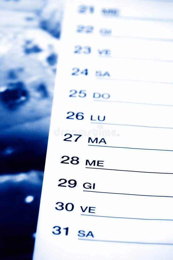 μπλε ημερολόγιο στοκ φωτογραφίες με δικαίωμα ελεύθερης χρήσης