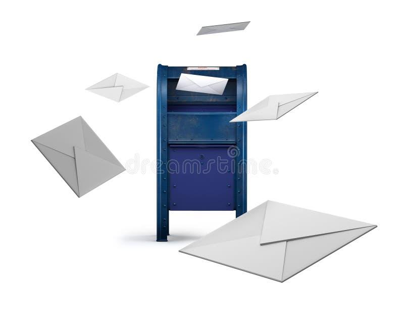 μπλε θέση κιβωτίων στοκ φωτογραφία