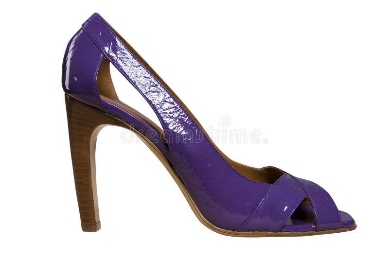 μπλε θηλυκά παπούτσια στοκ εικόνα με δικαίωμα ελεύθερης χρήσης
