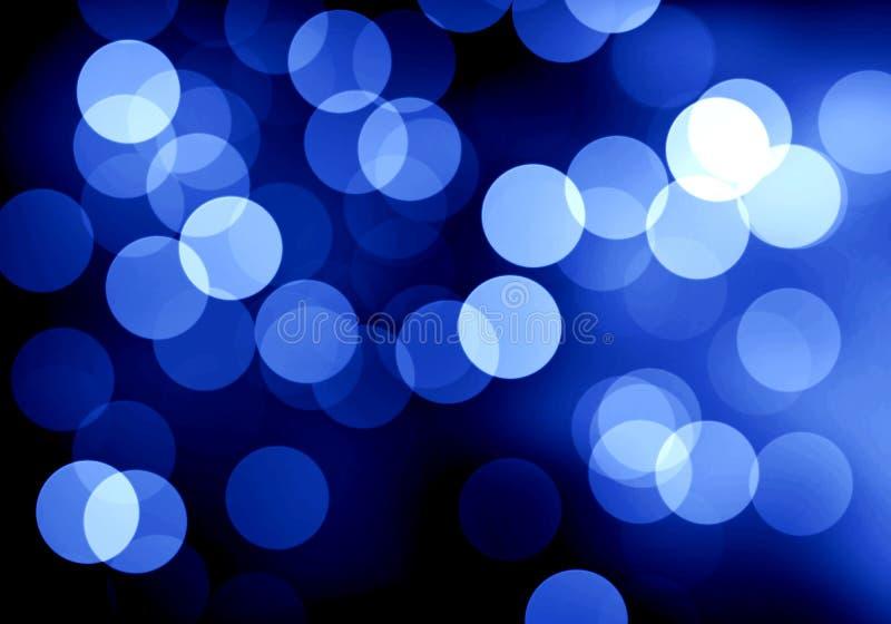 Μπλε θολωμένο bokeh υπόβαθρο, απεικόνιση, ο Μαύρος, λευκό, κύκλοι, σχέδιο, όμορφο, φως ελεύθερη απεικόνιση δικαιώματος
