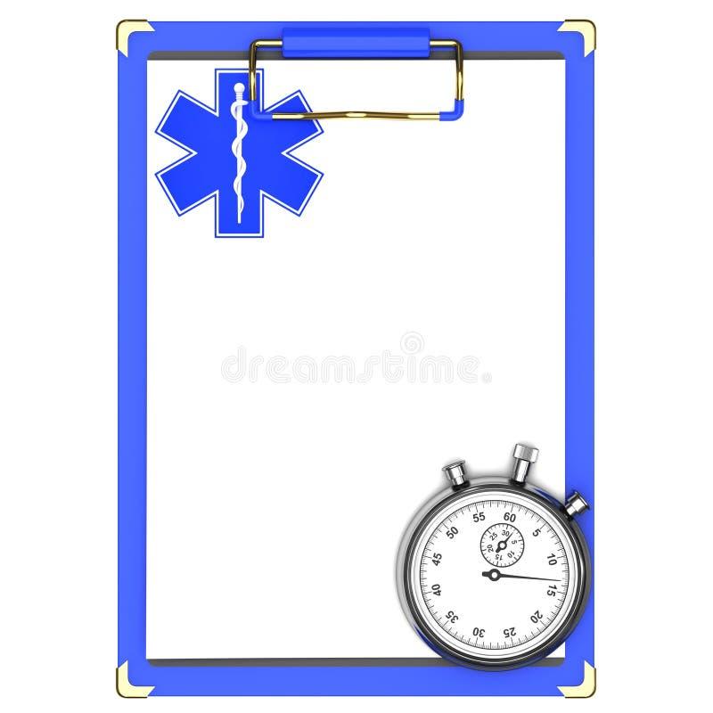 μπλε ιατρικό χρονόμετρο μ&epsi ελεύθερη απεικόνιση δικαιώματος