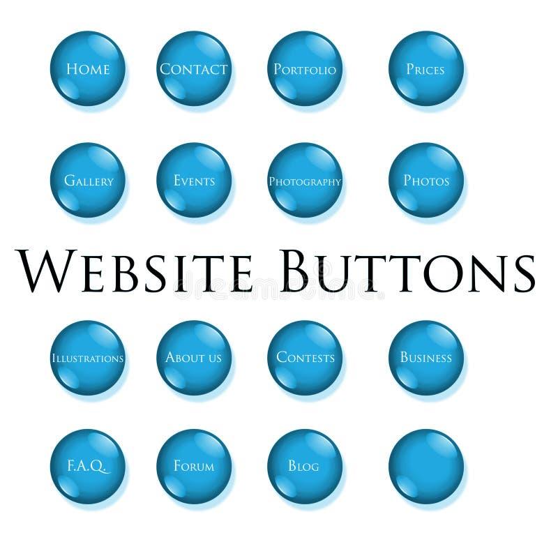 μπλε ιστοχώρος κουμπιών ελεύθερη απεικόνιση δικαιώματος
