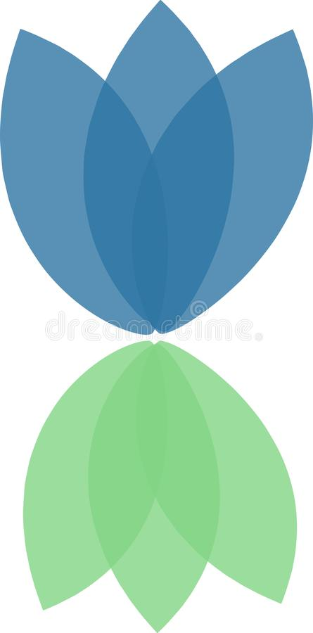 Μπλε ιώδες λογότυπο λουλουδιών στοκ φωτογραφία