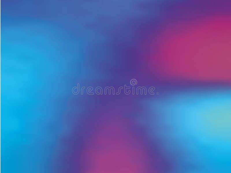 Μπλε-ιώδες ολογραφικό υπόβαθρο κλίσης Η δεκαετία του '80 ύφους - η δεκαετία του '90 Ζωηρόχρωμη διανυσματική απεικόνιση σχεδίου σύ διανυσματική απεικόνιση