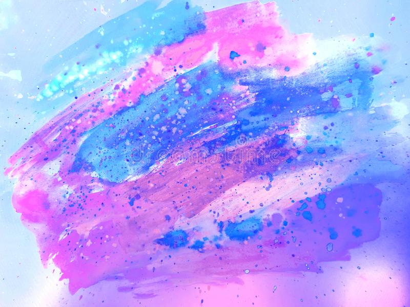 μπλε ιώδες watercolor ανασκόπηση&sigmaf φαντασία σύσταση στοκ εικόνες με δικαίωμα ελεύθερης χρήσης