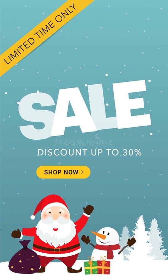 Μπλε κάθετο έμβλημα χειμερινής πώλησης στοκ φωτογραφίες με δικαίωμα ελεύθερης χρήσης