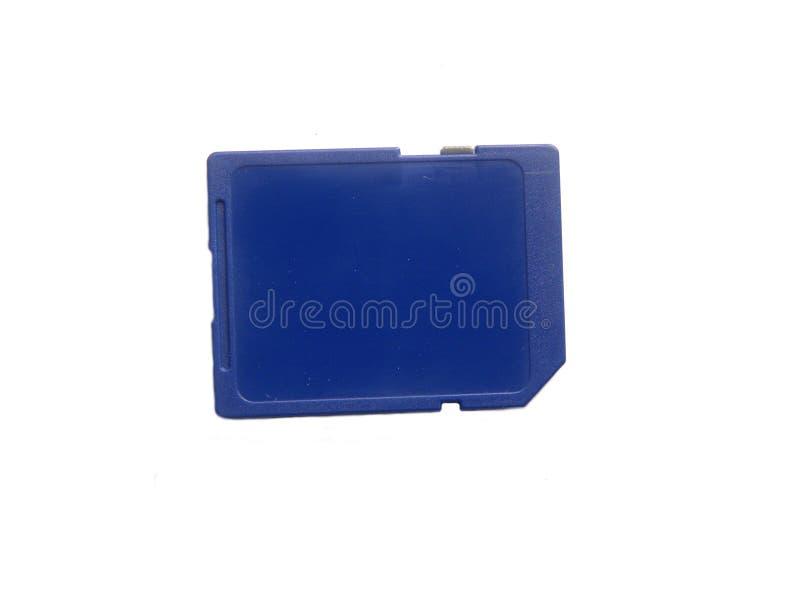 Μπλε κάρτα μνήμης χρώματος στοκ φωτογραφίες