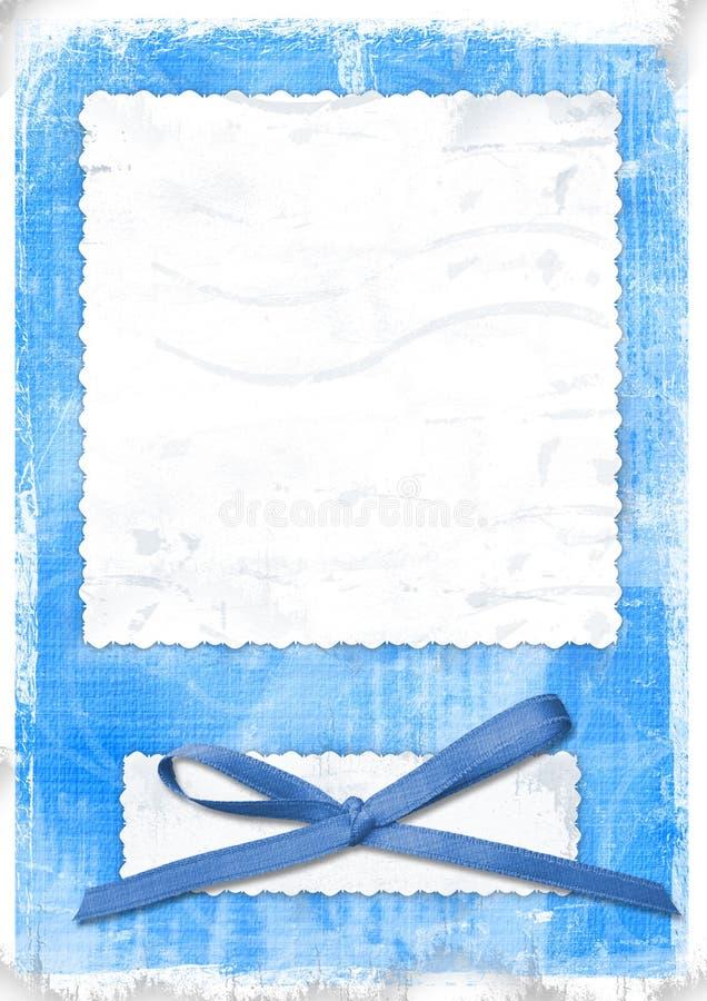 μπλε κάρτα που χαιρετά το αναδρομικό ύφος διανυσματική απεικόνιση