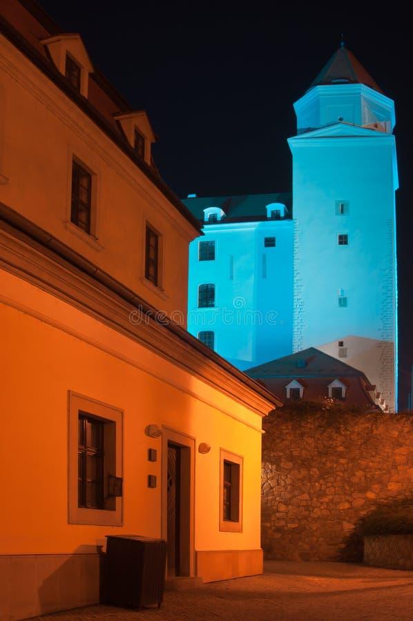 Μπλε κάστρο της Βρατισλάβα στοκ εικόνα