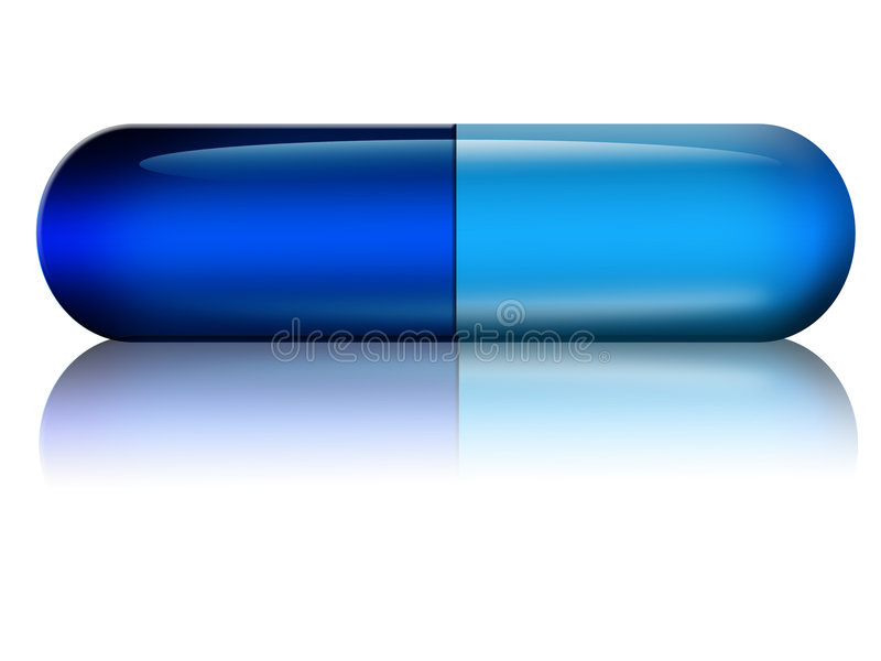 Μπλε κάψα διανυσματική απεικόνιση