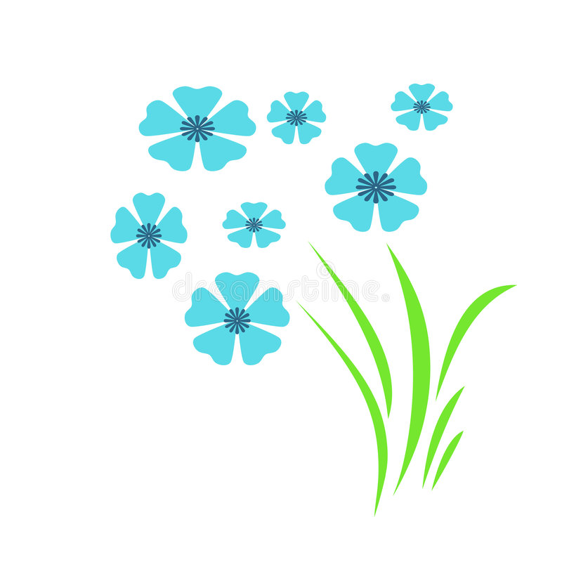μπλε κήπος λουλουδιών απεικόνιση αποθεμάτων