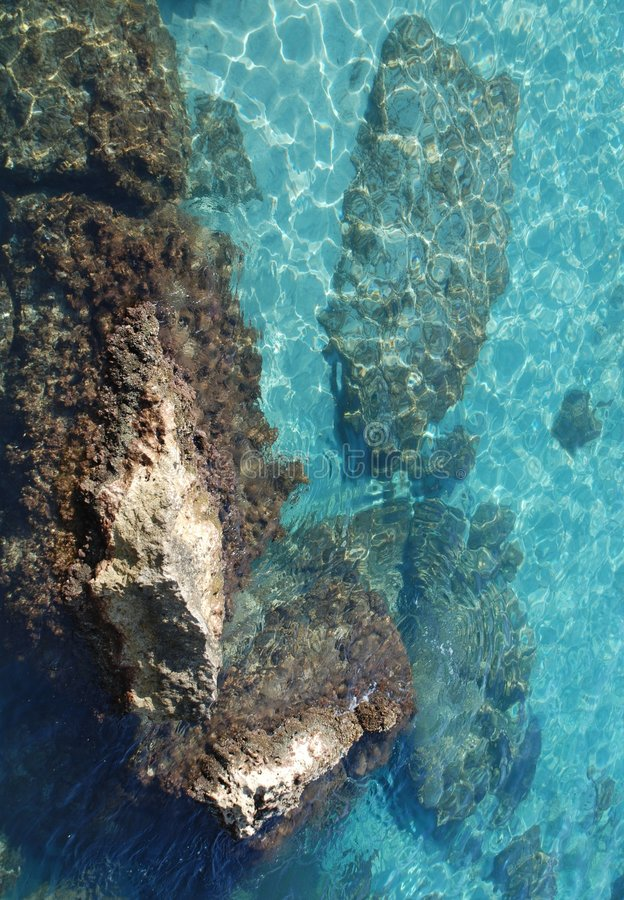 μπλε καθαρό ύδωρ στοκ εικόνες