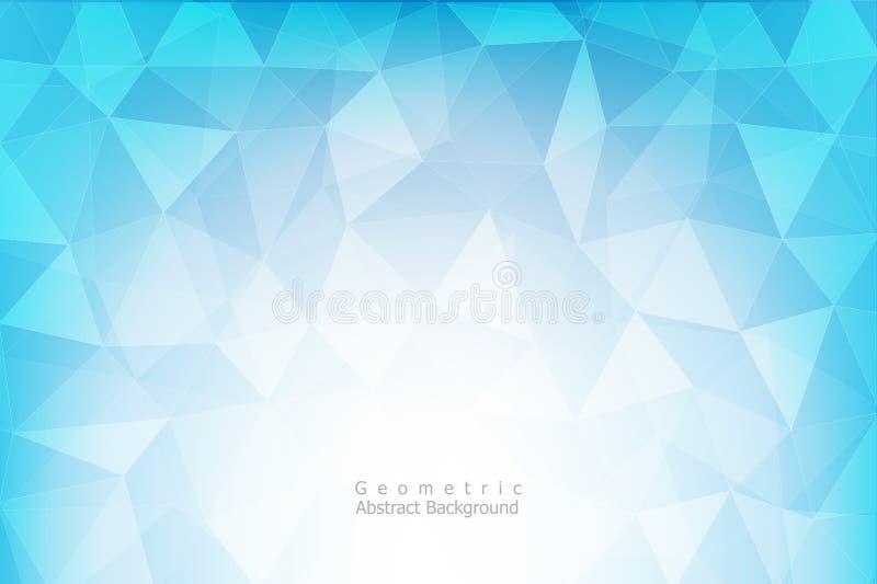 Μπλε και άσπρο γεωμετρικό αφηρημένο υπόβαθρο, διανυσματικό eps10 διανυσματική απεικόνιση