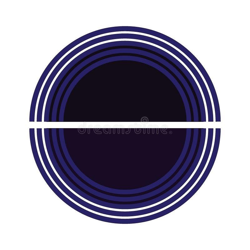 Μπλε και σκούρο μπλε, μικρό χάσμα σχεδίου λογότυπων κύκλων μεταξύ του κύκλου ελεύθερη απεικόνιση δικαιώματος