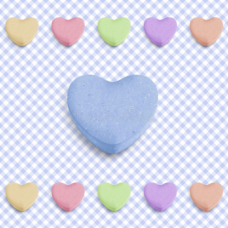 μπλε καρδιά καραμελών ελεύθερη απεικόνιση δικαιώματος