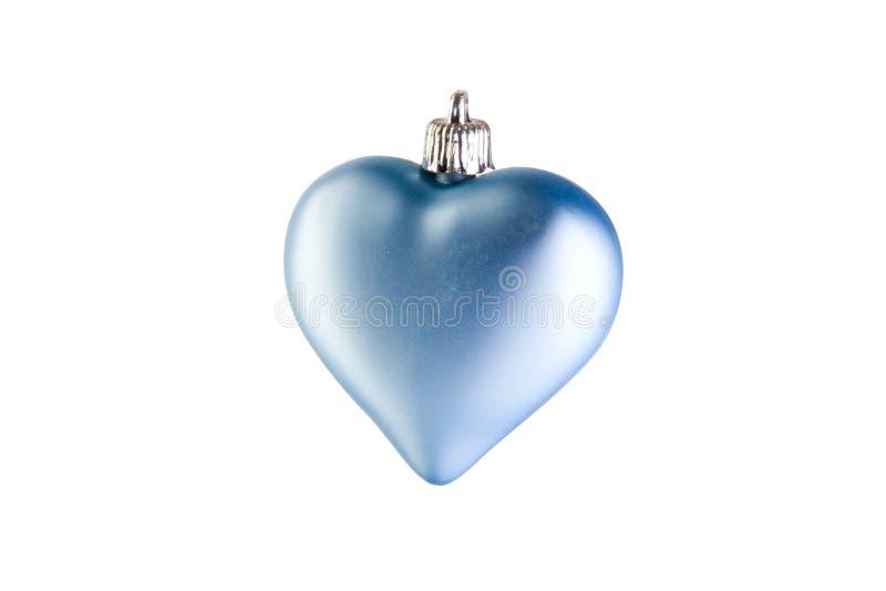 μπλε καρδιά Χριστουγέννω& στοκ φωτογραφία