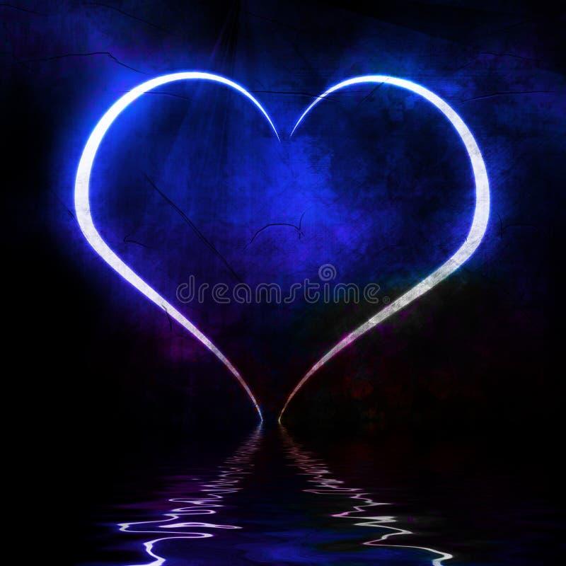 Μπλε καρδιά ελεύθερη απεικόνιση δικαιώματος