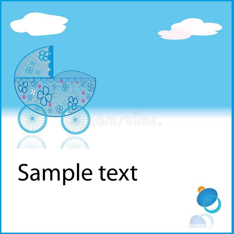 μπλε καροτσάκι αγοριών μ&omeg στοκ εικόνες με δικαίωμα ελεύθερης χρήσης