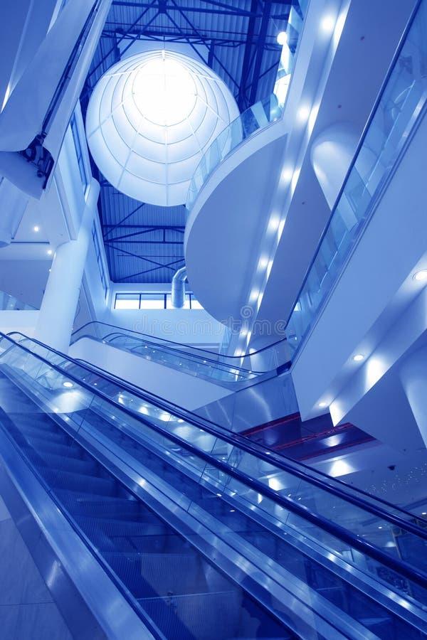 μπλε κενές εσωτερικές α&g στοκ φωτογραφία