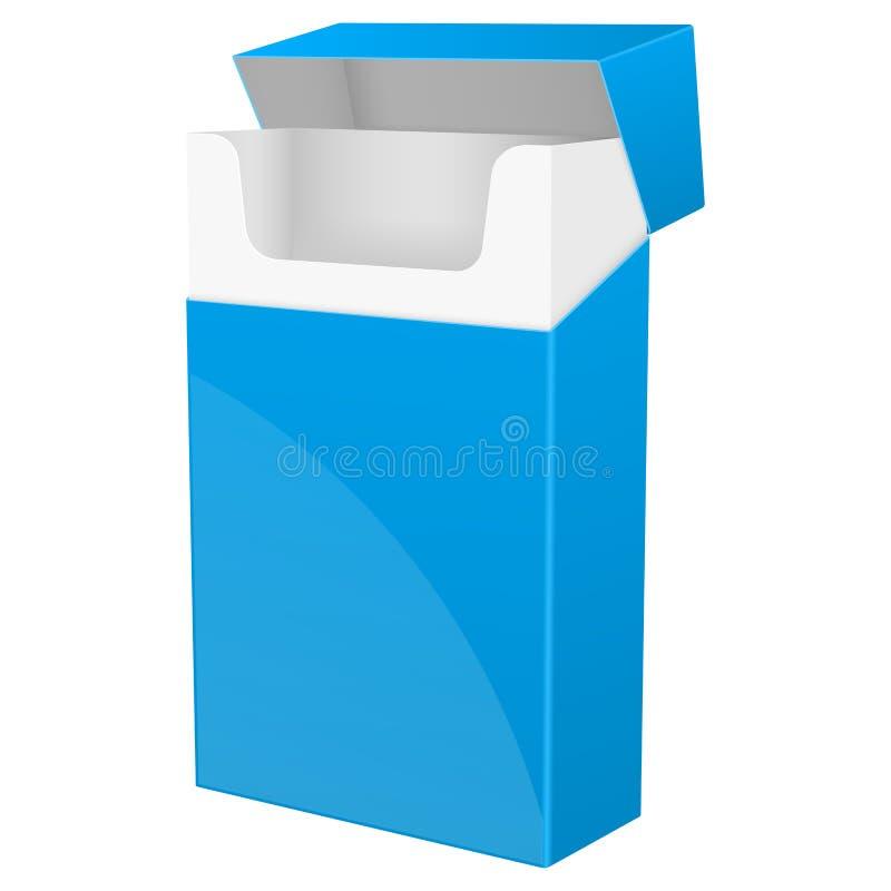 Μπλε κενό πακέτο των τσιγάρων απεικόνιση αποθεμάτων