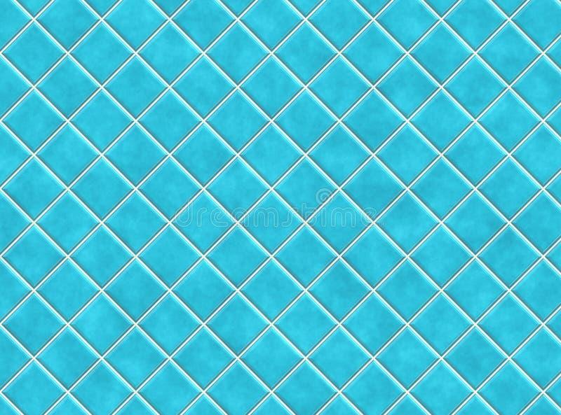 μπλε κεραμίδια λουτρών διανυσματική απεικόνιση