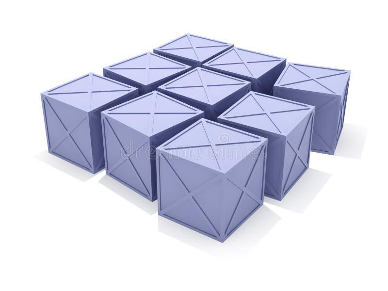 μπλε κιβώτια διανυσματική απεικόνιση