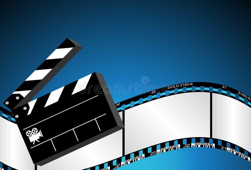 μπλε κινηματογράφος ανασκόπησης απεικόνιση αποθεμάτων