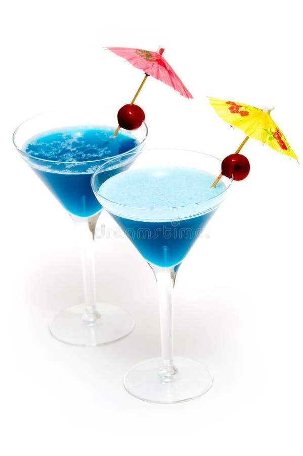 μπλε κοκτέιλ Κουρασάο δύο Στοκ εικόνα με δικαίωμα ελεύθερης χρήσης