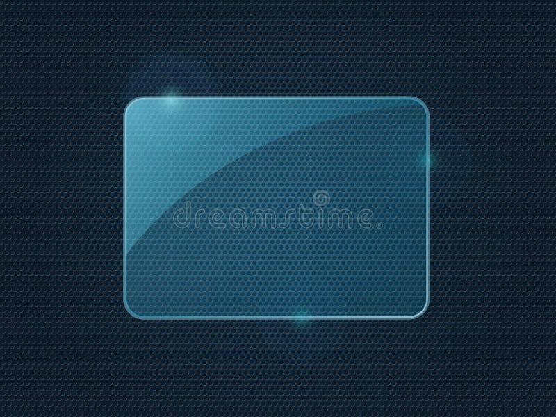 Μπλε κομμάτι ορθογωνίων του πλαισίου γυαλιού απεικόνιση αποθεμάτων
