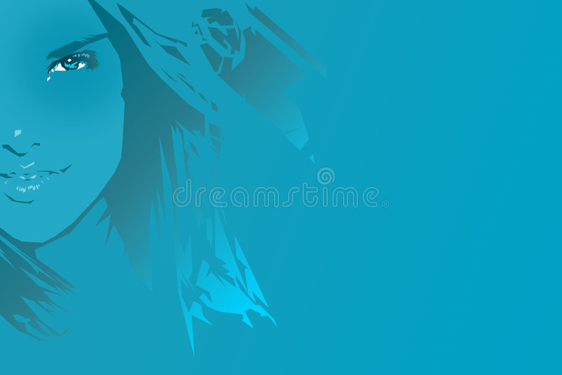 μπλε κορίτσι στοκ φωτογραφίες με δικαίωμα ελεύθερης χρήσης