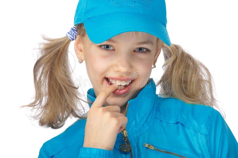 μπλε κορίτσι Yong ΚΑΠ στοκ φωτογραφίες με δικαίωμα ελεύθερης χρήσης