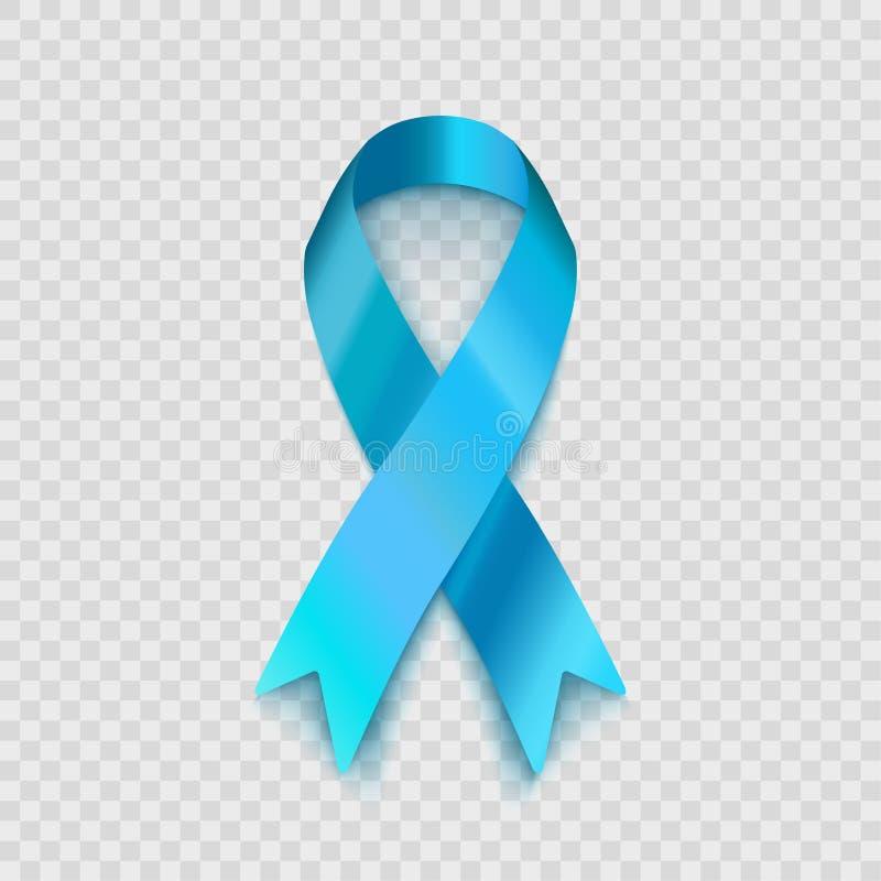 Μπλε κορδέλλα απεικόνισης αποθεμάτων διανυσματική που απομονώνεται στο διαφανές υπόβαθρο Το πρόβλημα της ανθρώπινης κίνησης και τ απεικόνιση αποθεμάτων