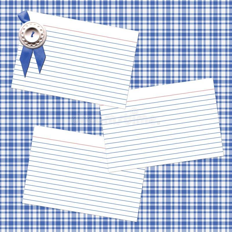 μπλε κορδέλλα συνταγής διανυσματική απεικόνιση
